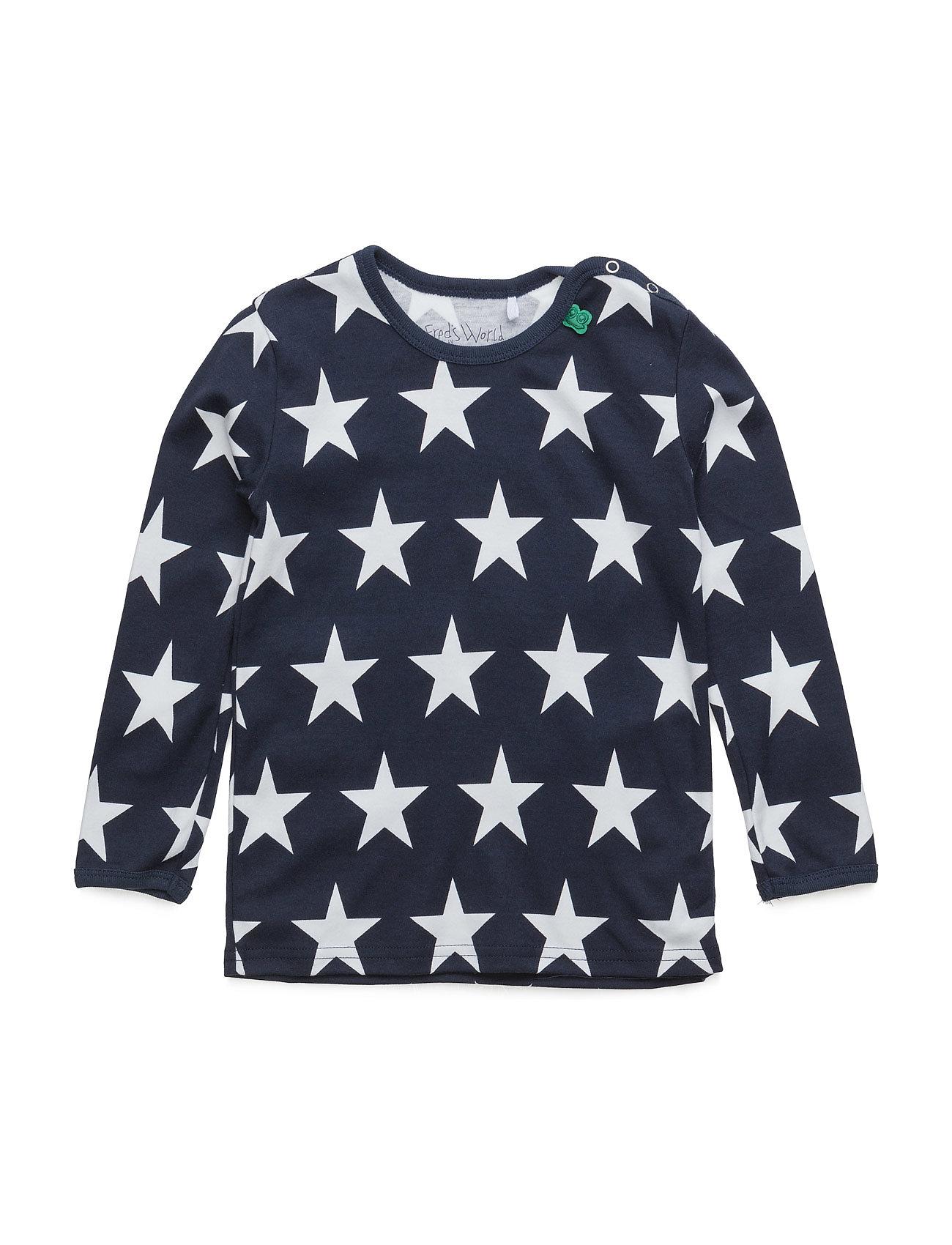 Star L/Sl T Baby Freds World Langærmede t-shirts til Børn i Navy blå