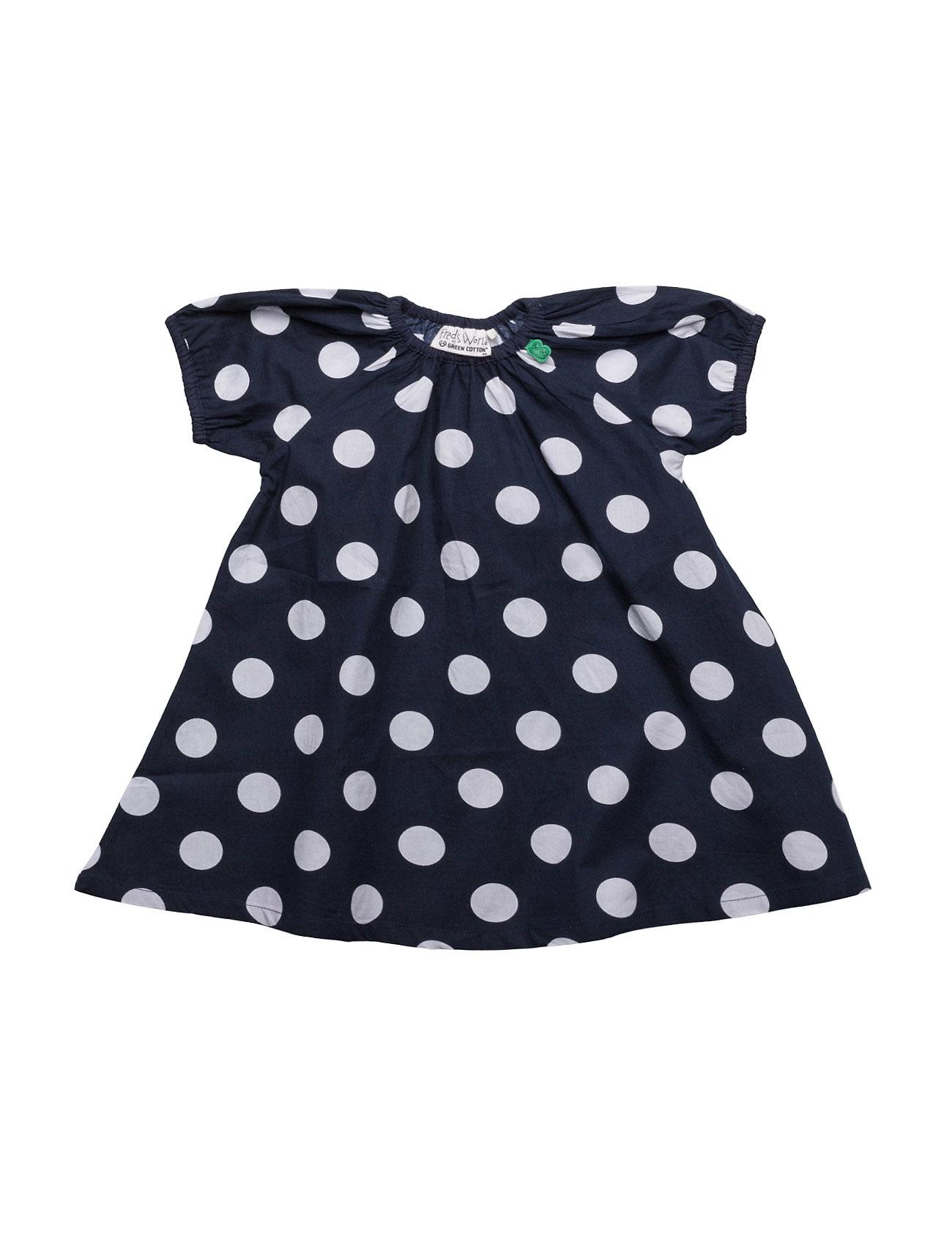 Spot Poplin Dress Baby Freds World Kjoler & Nederdele til Piger i Navy blå