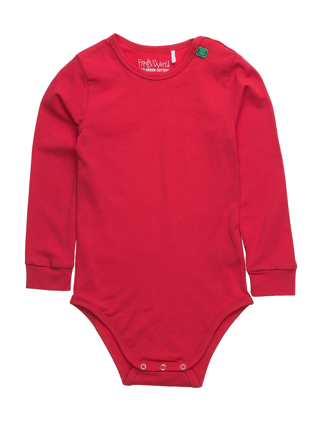 Alfa Long Sleeve Body Freds World Langærmede bodies til Børn i Rød