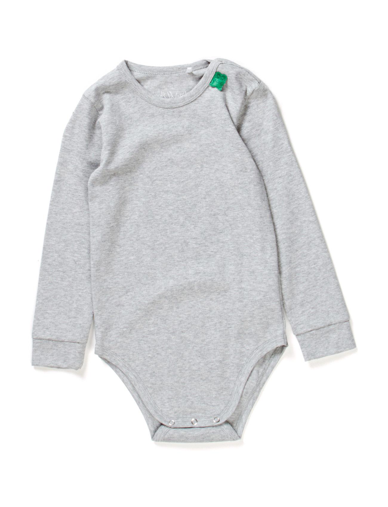 Alfa Long Sleeve Body Freds World Langærmede bodies til Børn i Pale Greymarl