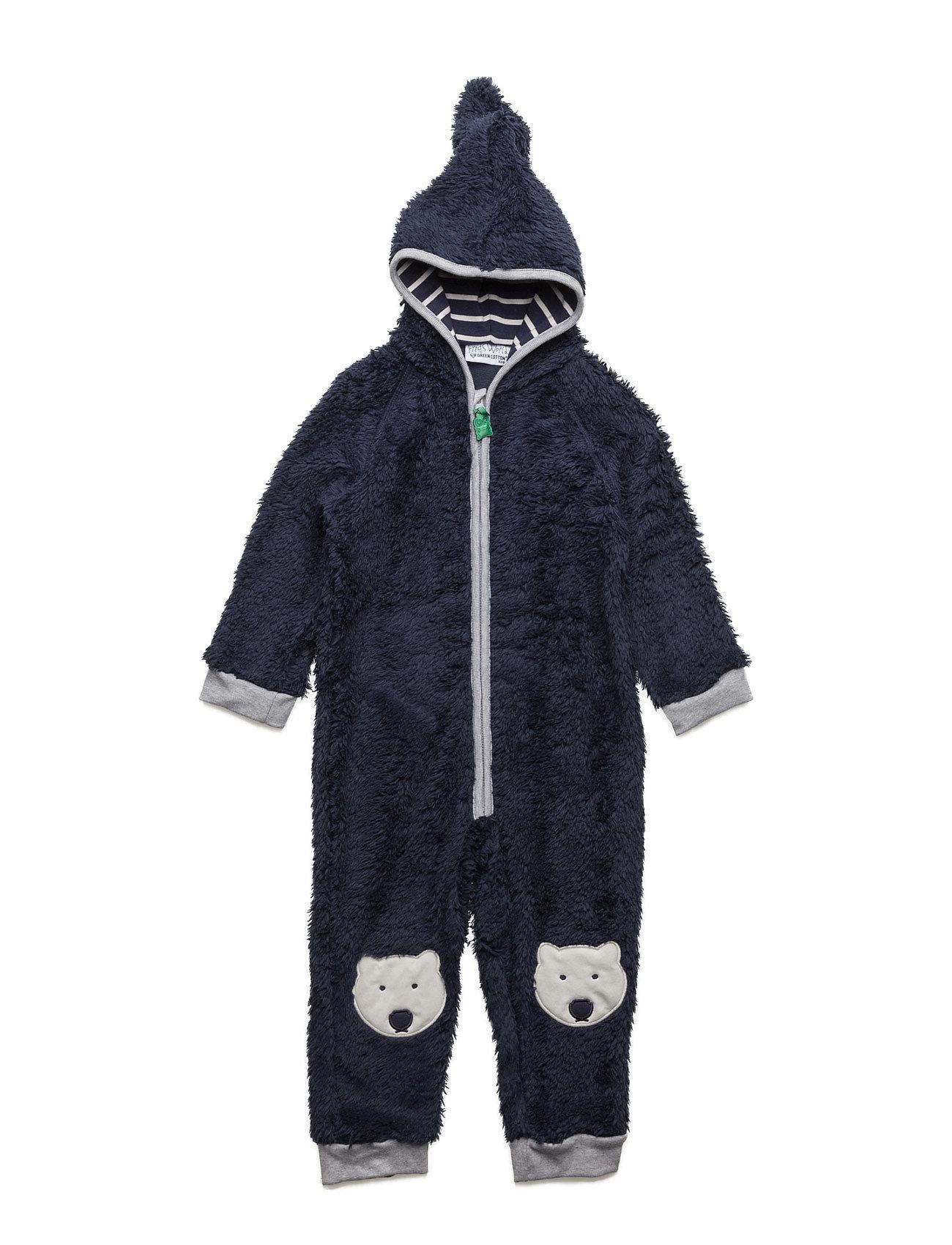Bear Fleece Suit Freds World Fleece til Børn i Navy blå