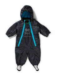 Outdoor suit zebra baby - Blue