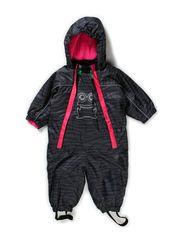 Outdoor suit zebra baby - Pink