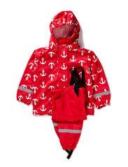 Rainwear set, waterpressure 8.000mm - Red
