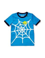 Spider s/sl front T - Blue