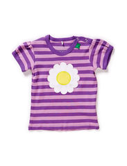 Daisy stripe T baby - Purple