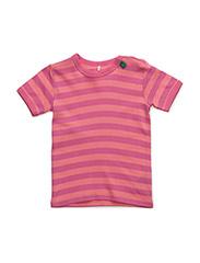 Stripe s/sl T baby - PINK