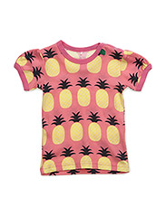 Pineapple s/sl T baby - CORAL