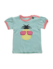 Pineapple front s/sl T baby - PASTEL