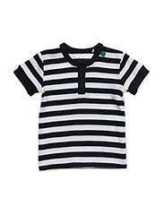 Sailor stripe granny T baby - NAVY