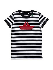 Boat stripe s/sl T boy - NAVY