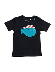 Boat front T boy baby - NAVY