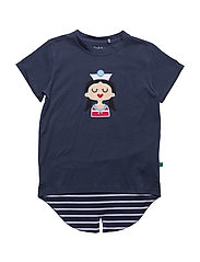 Sailor front T girl - NAVY