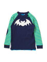 Bat front T baby - Navy