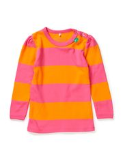 Big stripe T girl baby - Pink