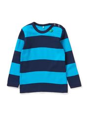 Big stripe T boy baby - Navy