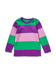 Block stripe l/sl T baby - Purple
