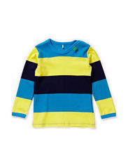 Block stripe l/sl T baby - Swedish blue