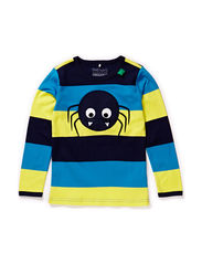 Spider block stripe T - Swedish blue