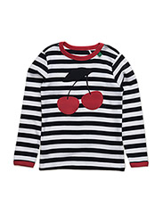 Cherry stripe l/sl T - NAVY