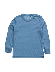 Wool l/sl T baby - BLUE