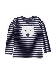 Bear stripe T baby - NAVY/CREAM