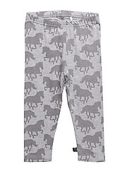 Horse leggings baby - PALE GREYMARL