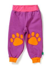Sweat appliqué pants - Purple