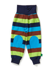 Block stripe pants - Navy