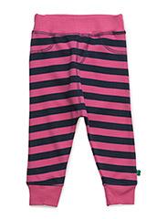Stripe funky pants - MAGENTA