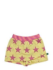 Star skirt shorts - YELLOW