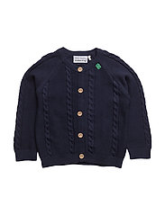 Cable knit cardigan baby - NAVY