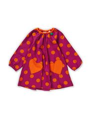 Twill spot dress baby - Purple