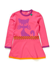 Cat front dress baby - Pink