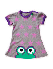Star peep dress baby - Violet