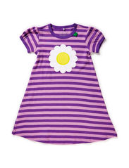 Daisy stripe dress - Purple