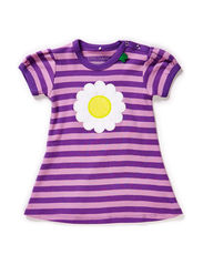 Daisy stripe dress baby - Purple