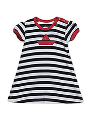 Boat stripe dress baby - NAVY