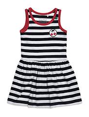 Cherry stripe dress - NAVY