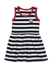 Cherry stripe dress baby - NAVY