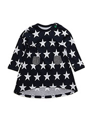 Star l/sl dress baby - NAVY