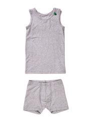 Alfa underwear boy - Pale greymarl