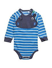 Hippo stripe body - ROYAL BLUE/CREAM