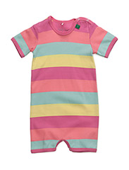 Block stripe beach body - PINK