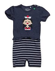 Sailor stripe beach girl - NAVY