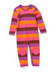 Block stripe bodysuit - Purple
