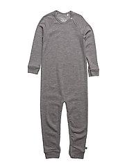 Wool bodysuit - PALE GREYMARL