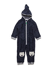 Bear fleece suit - NAVY