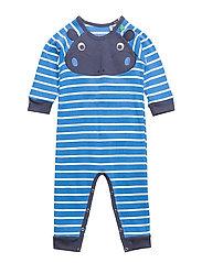 Hippo stripe bodysuit - ROYAL BLUE/CREAM