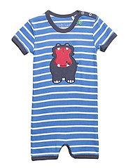 Hippo stripe beach - ROYAL BLUE/CREAM